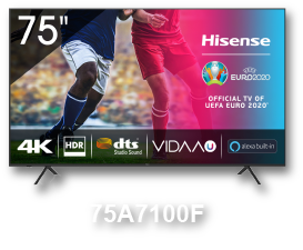 HISENSE 75A7100F 75'' LED 4K