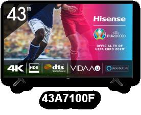 HISENSE 43A7100F 43'' LED 4K