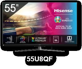 HISENSE 55U8QF 55'' LED 4K