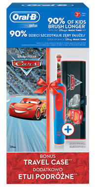ORAL-B D12 KIDS CARS + ETUI