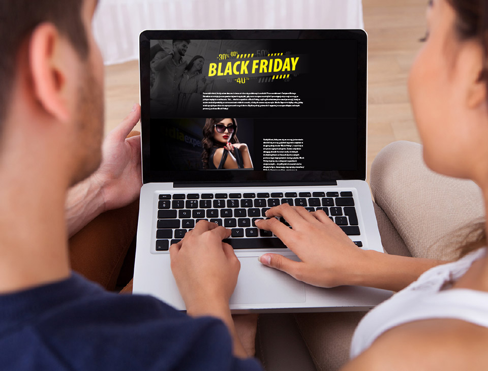 Black Friday na laptopie