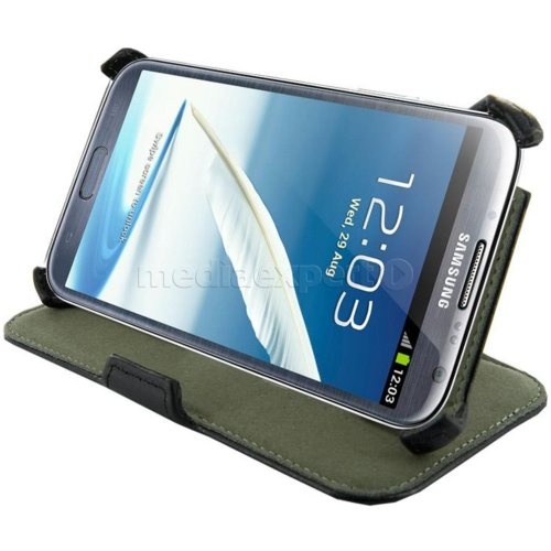 Etui 4WORLD Stand do Galaxy Note 2 Czarny