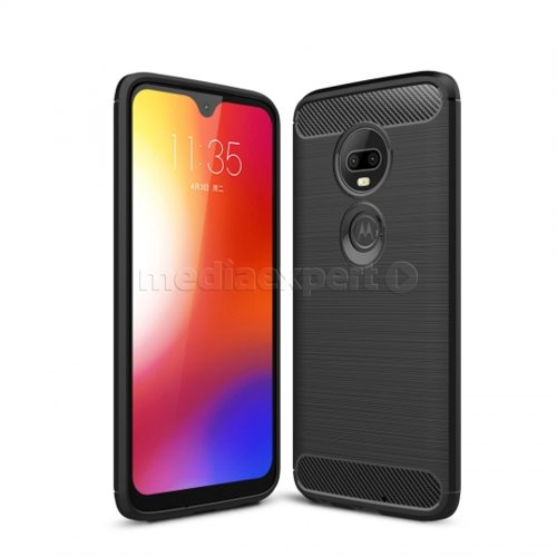 Etui TECH-PROTECT TPUcarbon do Motorola Moto G7/G7 Plus Czarny