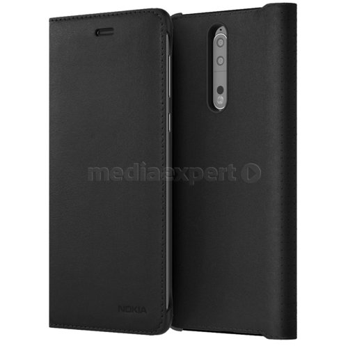 Etui NOKIA Leather Flip Cover do Nokia 8 Czarny