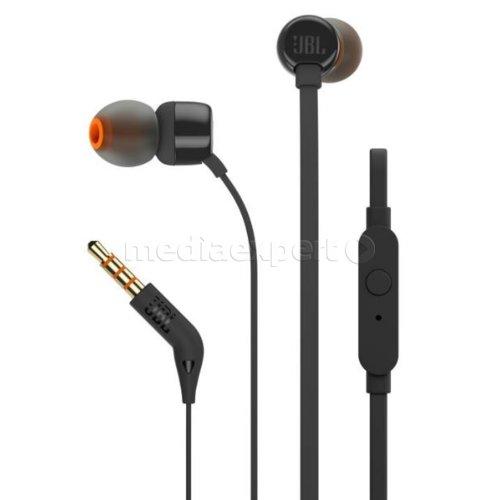 Słuchawki dokanałowe JBL T110 z mikrofonem Czarny