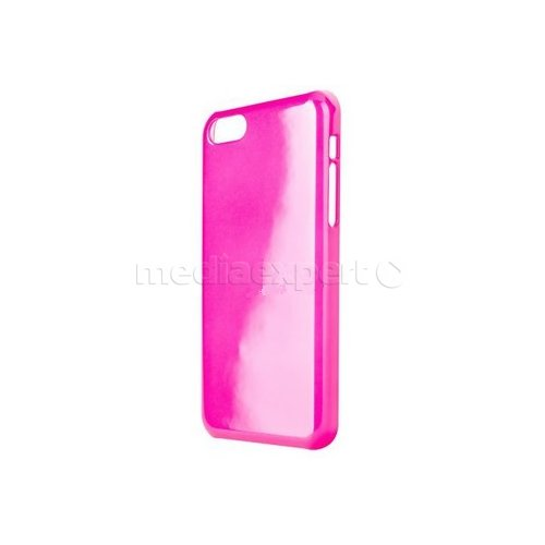 Etui XQISIT iPlate Glossy do iPhone 5C Różowy