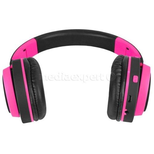Słuchawki nauszne ART AP B04 BT z mikrofonem Czarno różowe