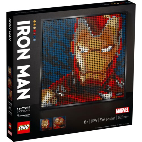 LEGO Art Iron Man z wytworni Marvel Studios 31199