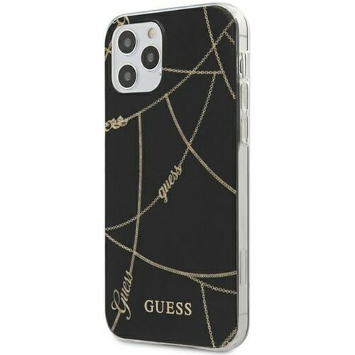 Etui GUESS Gold Chain Collection do Apple iPhone 12/12 Pro Czarny