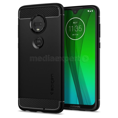 Etui SPIGEN Rugged Armor do Motorola Moto G7/G7 Plus Czarny