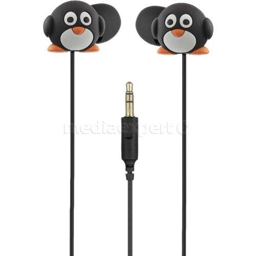 Słuchawki dokanałowe MY DOODLES Pingwin Czarno biały