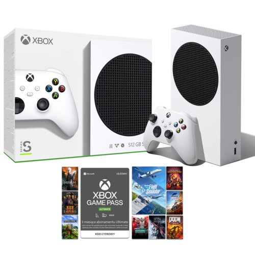 Konsola MICROSOFT XBOX Series S + Game Pass Ultimate 3 miesiące