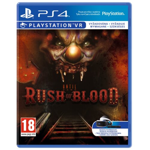 Until Dawn: Rush of Blood Gra PS4 VR