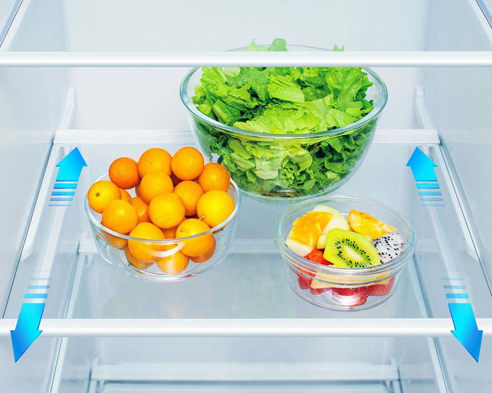 Холодильник HISENSE RS694N4TF2 - Легко доступные полки