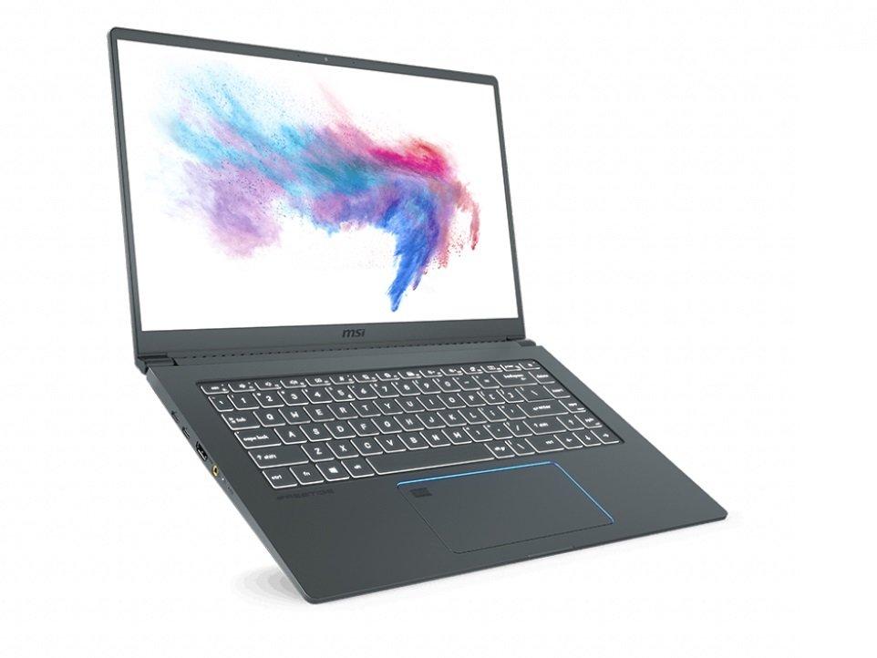 Laptop MSI Prestige 15 i7-10710U 8GB 512GB SSD GF-GTX 1650 Max-Q W10 design odchylenie 180 stopni stylowy