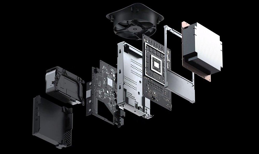 консоль xbox series x компоненти microsoft материнська плата пам'ять радіатор вентилятор