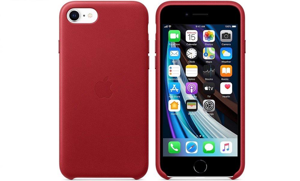 APPLE Leather Case do iPhone 7/8/SE 2020 Czerwony Etui ...