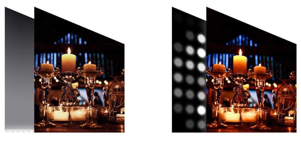 HISENSE LED U7QF TV - Локальное затемнение на полную матрицу