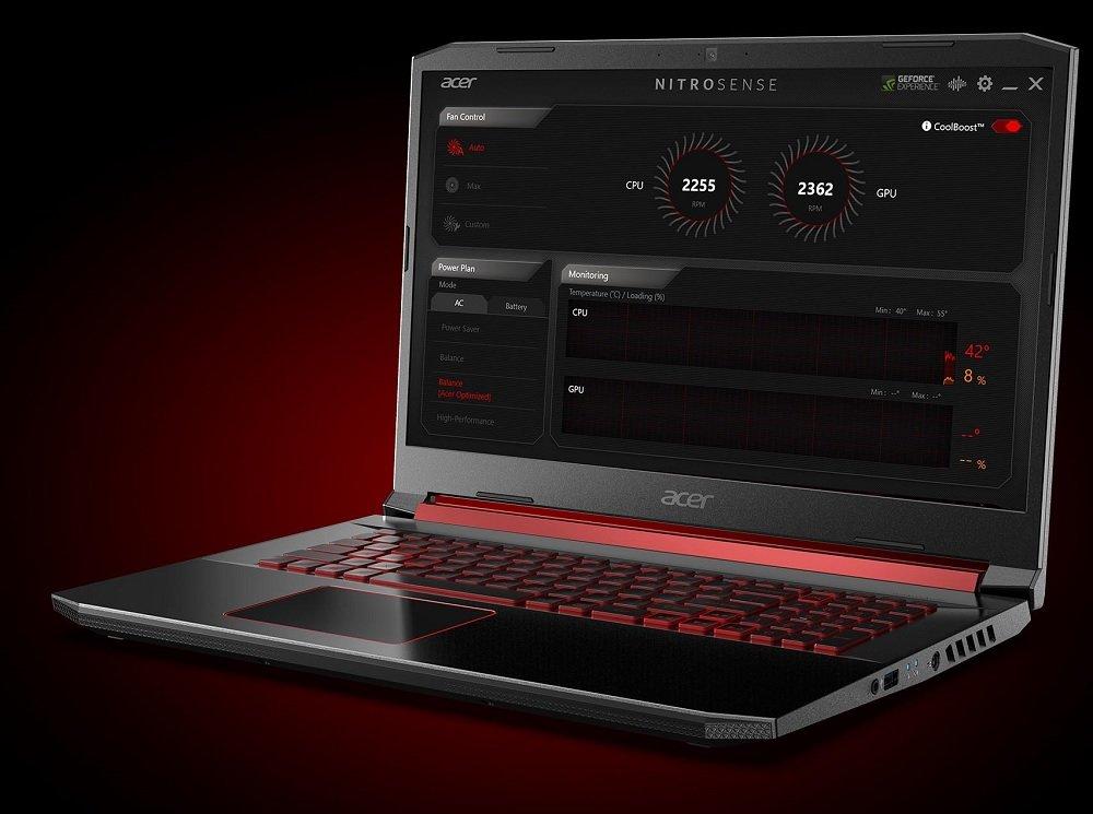 Laptop Acer Nitro 5 Wentylator NitroSense CoolBoost chłodzenie