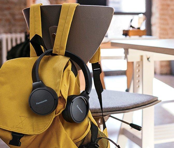 Słuchawki nauszne PANASONIC RB-HF420BE-K Przenośne