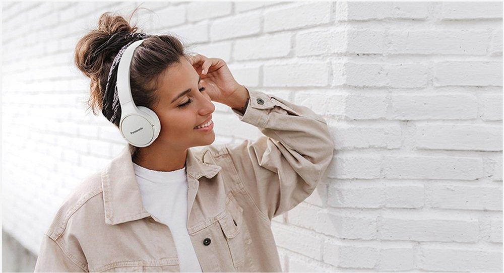 Słuchawki nauszne PANASONIC RB-HF420BE-K Wygoda