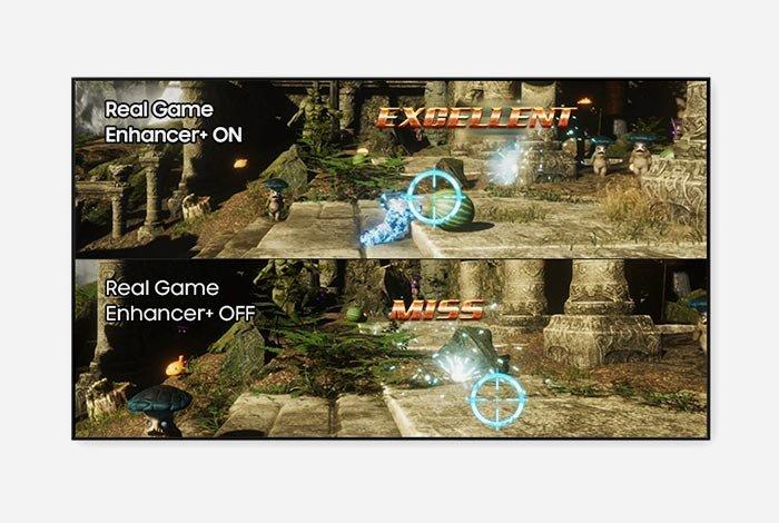 SAMSUNG QLED QE75Q90T TV - Улучшение реальной игры