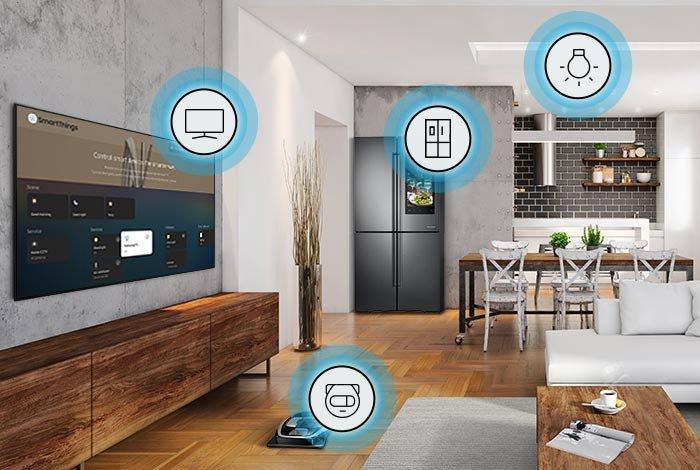 Телевизор SAMSUNG QLED QE75Q90T - SmartThings