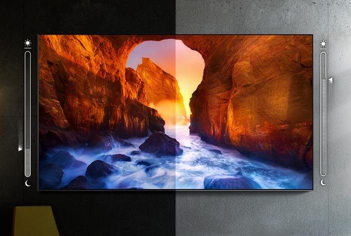SAMSUNG QLED QE75Q90T TV - Функция адаптации изображения