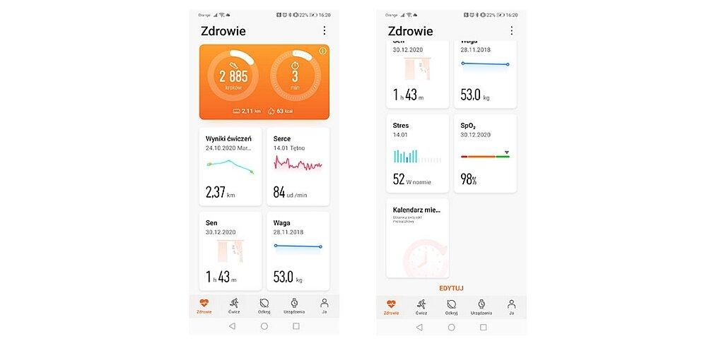 huawei aplikacja zdrowie