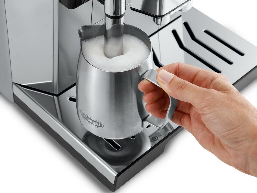 Кофеварка DELONGHI PrimaDonna Class ECAM 550.85.MS автоматическая очистка графина для молока