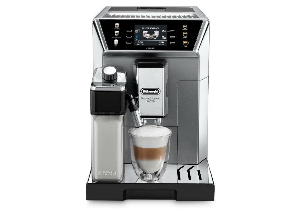 Кофеварка DELONGHI PrimaDonna Class ECAM 550.85.MS вид спереди