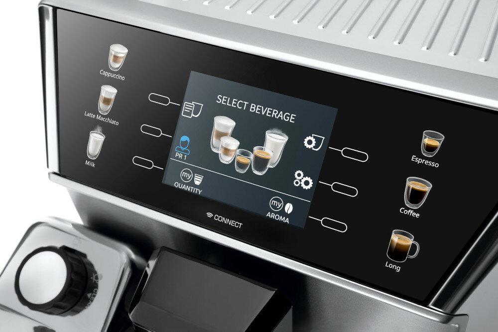 Кофеварка DELONGHI PrimaDonna Class ECAM 550.85.MS дисплей сенсорная панель
