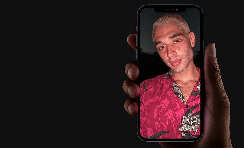 Smartfon Apple Iphone 12 selfie przednia kamerka aparat rozdzielczość upiększanie