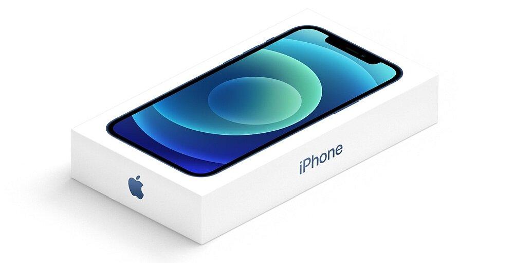 Smartfon Apple Iphone 12 środowisko oszczędny ładowarka zestaw pudełko