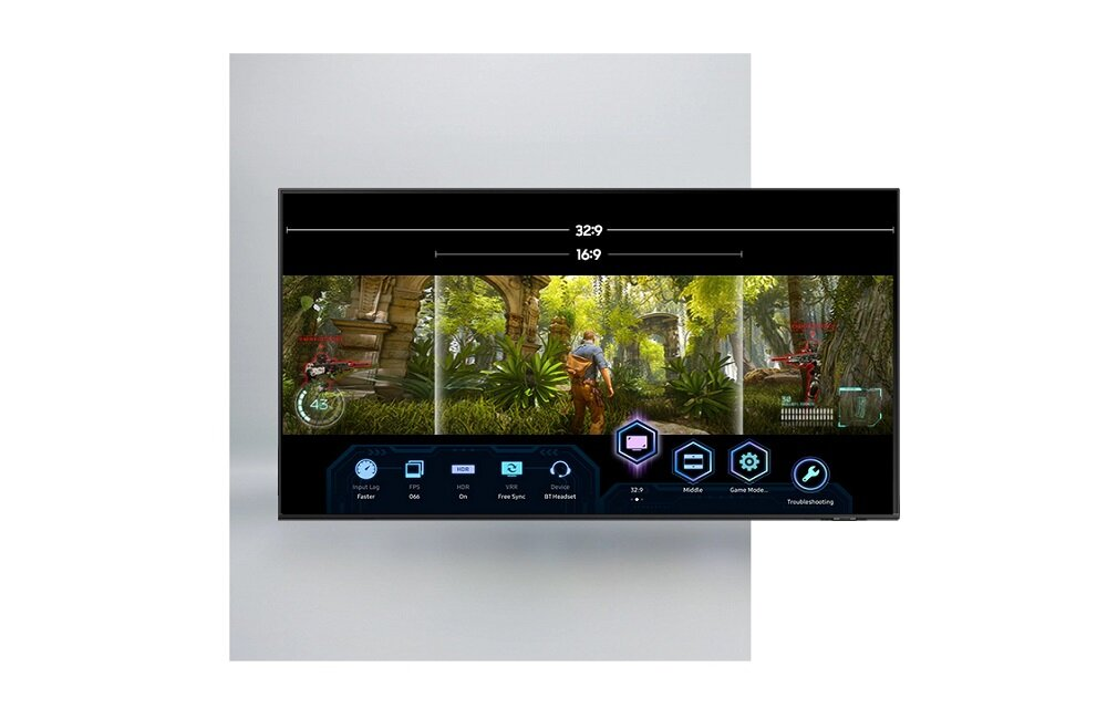 SAMSUNG LED TV QE65QN85A Интуитивно понятные функции панели управления для игроков со сверхшироким обзором в играх